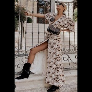 Zara Leather Cowboy Wedge Heel Boots 5017/001